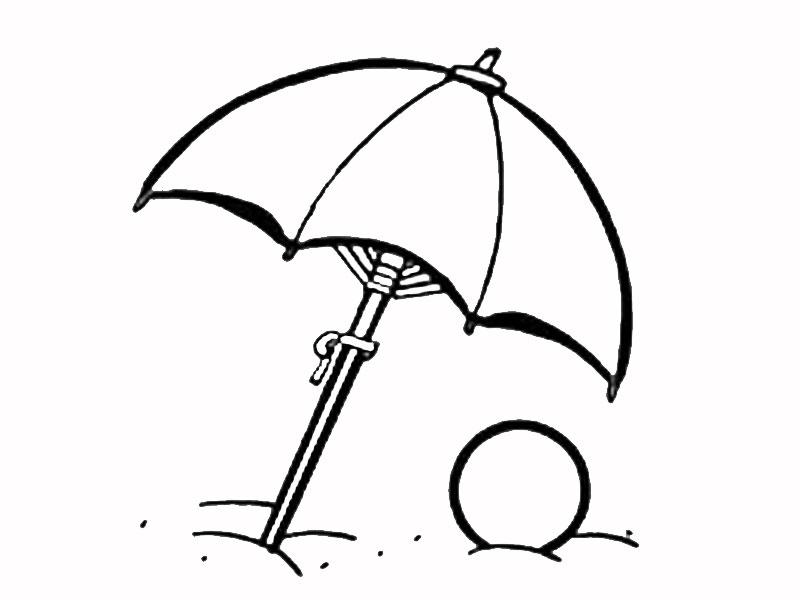 Imprimir dibujos para colorear : Sombrilla de playa