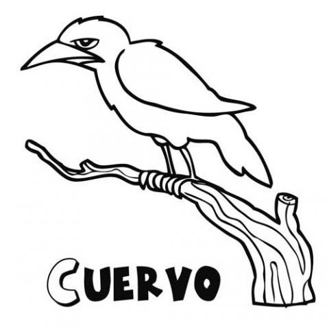 Cuervos para colorear - Imagui