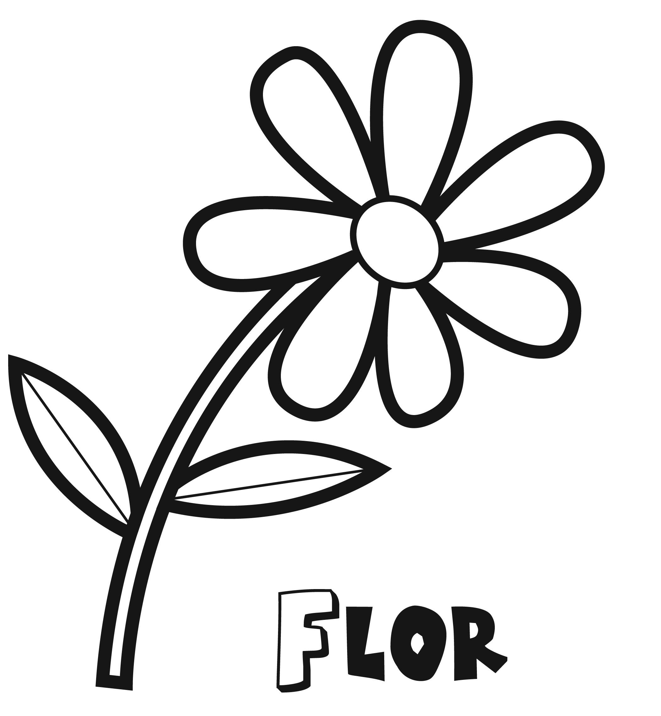 Dibujos de Flor para colorear