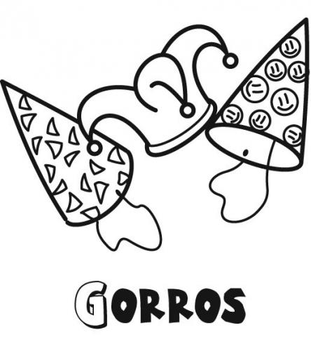 Dibujos de Gorros para colorear