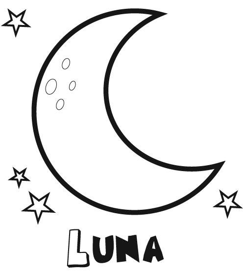 Imprimir dibujos para colorear : Luna