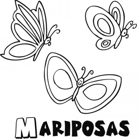 Mariposas de caricatura para colorear - Imagui