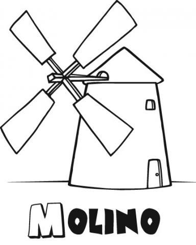 Dibujos para imprimir de viento sketch coloring page for Como hacer molinos de viento para el jardin