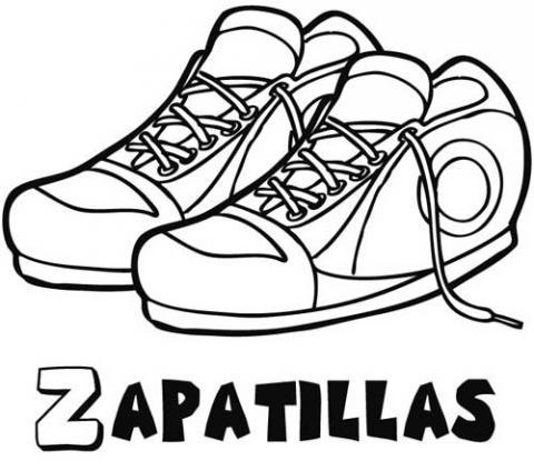 Dibujo zapatilla para colorear - Imagui