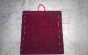Felt cover for MP3 or mobile phone paso 3