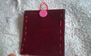 Felt cover for MP3 or mobile phone paso 4