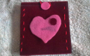 Felt cover for MP3 or mobile phone paso 5