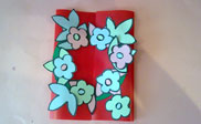 Flowers card paso 5