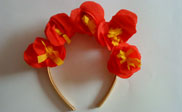 Flowers hair band paso 4