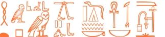 Jeroglífico del nombre Anubis