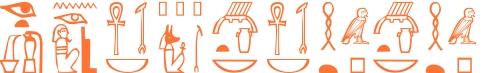 Jeroglífico del nombre Egipciaca