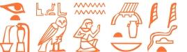 Jeroglífico del nombre Enoch