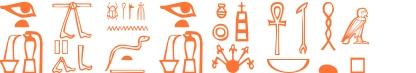 Jeroglífico del nombre Eufemia