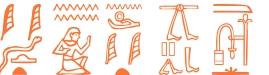 Jeroglífico del nombre Horus