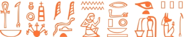 Jeroglífico del nombre Imhotep