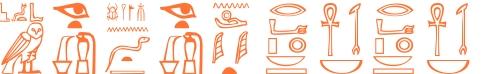 Jeroglífico del nombre Nefertiti