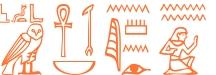 Jeroglífico del nombre Nilo