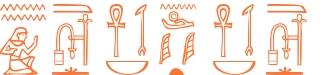 Jeroglífico del nombre Osiris