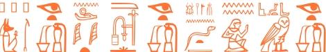 Jeroglífico del nombre Perséfone