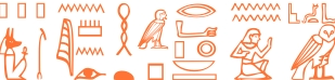 Jeroglífico del nombre Platón