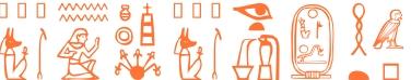 Jeroglífico del nombre Pompeya