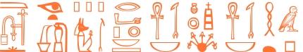 Jeroglífico del nombre Septimia