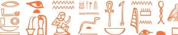 Jeroglífico del nombre Teófila