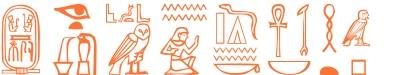 Jeroglífico del nombre Zenobia