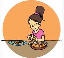 Mandarinas con chocolate Postre para nios