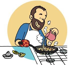 Pinchitos de carne con salsa de frutos secos receta f cil for Cocinar imagenes animadas