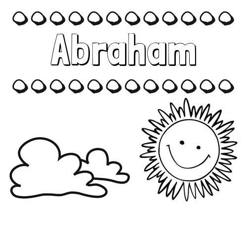 Nombre Abraham: Dibujo de nombres en el cielo para pintar