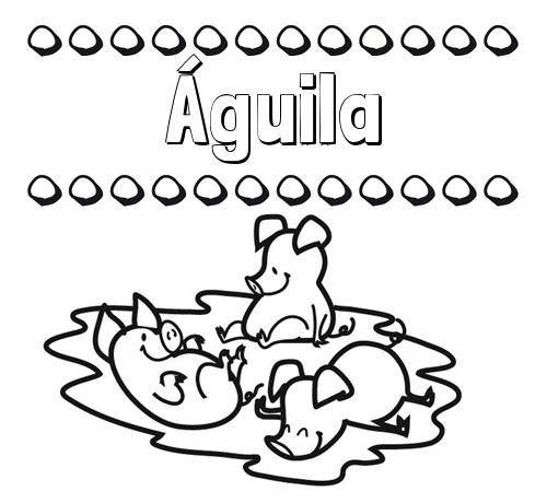 Nombre águila Dibujos Para Colorear Nombres Y Los Tres Cerditos