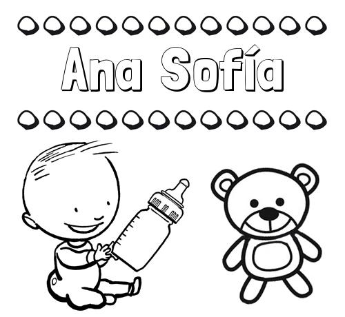 Dibujos Con El Nombre Ana Sofía Para Colorear E Imprimir