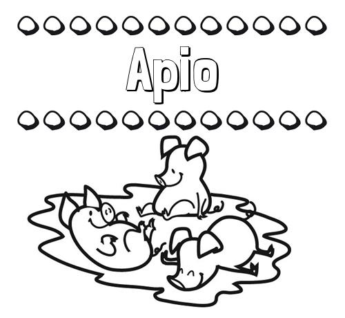 Nombre Apio: Dibujos para colorear: nombres y los tres cerditos