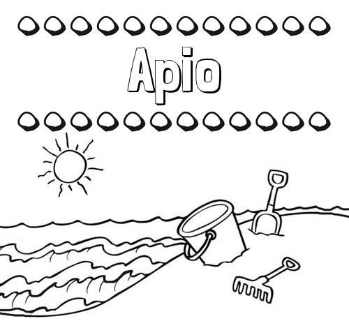 Nombre Apio: Nombres en la playa: dibujos para colorear