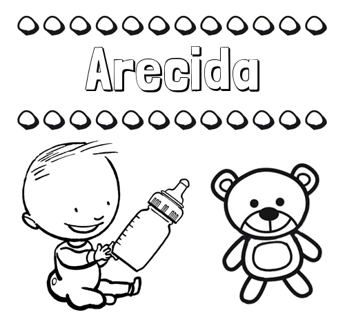 Divertidos dibujos de nombres: peluche y bebé
