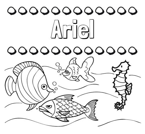 Nombre Ariel Peces Dibujos De Nombres Para Pintar