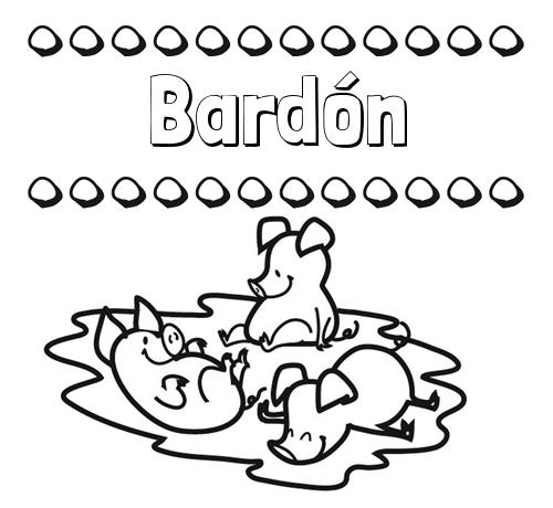 Dibujos para colorear: nombres y los tres cerditos
