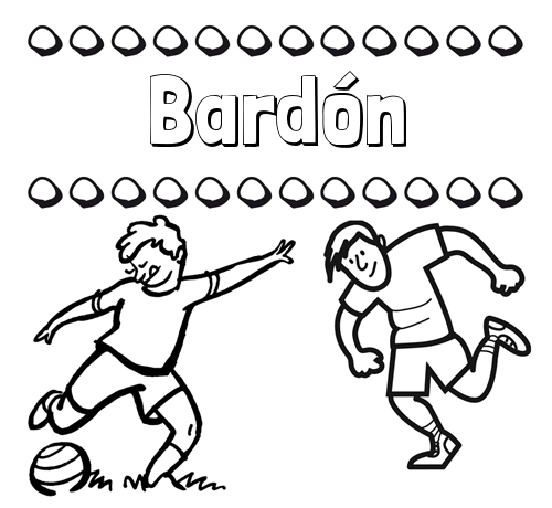 Dibujar las letras de nombres y fútbol