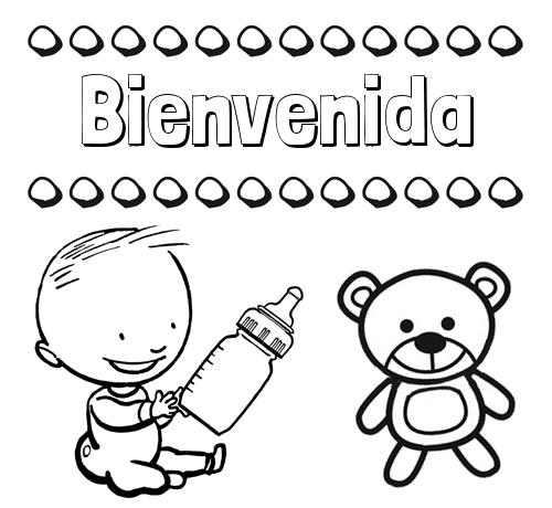 Nombre Bienvenida Divertidos Dibujos De Nombres Peluche Y Bebé