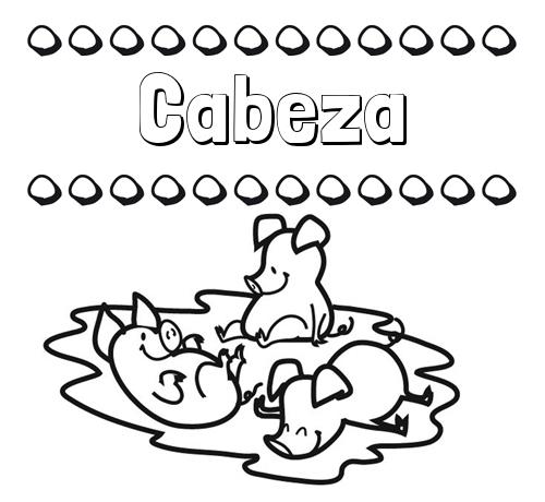 Nombre Cabeza: Dibujos para colorear: nombres y los tres cerditos