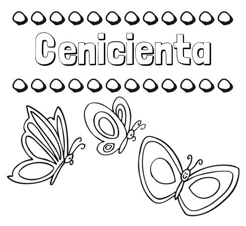 Nombre Cenicienta Imprimir Un Dibujo Para Colorear De Nombres Y
