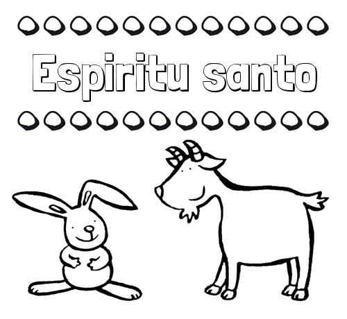 Nombre Espiritu Santo Dibujos Para Niños Su Nombre Con