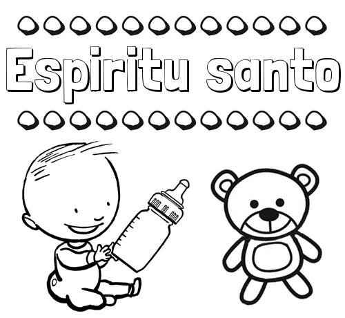 Nombre Espiritu santo: Divertidos dibujos de nombres: peluche y bebé
