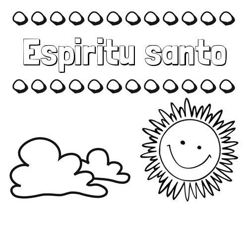 Dibujos con el nombre Espiritu santo para colorear e imprimir