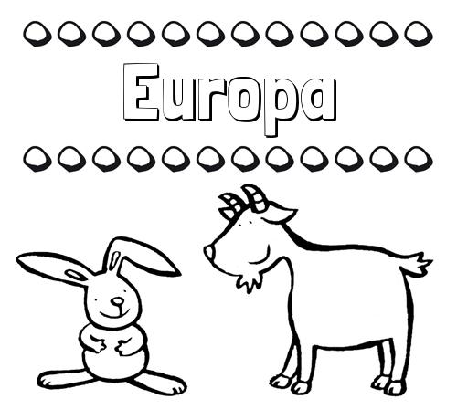 Nombre Europa Dibujos Para Niños Su Nombre Con Animales