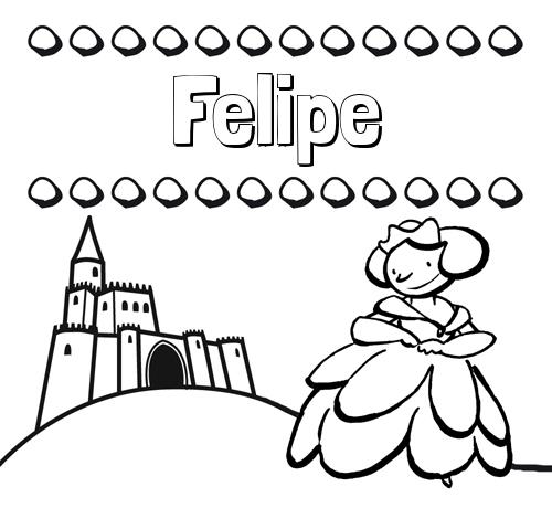 Dibujos para colorear su nombre y una princesa