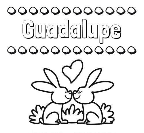 Nombre Guadalupe Colorear Las Letras De Los Nombres Con