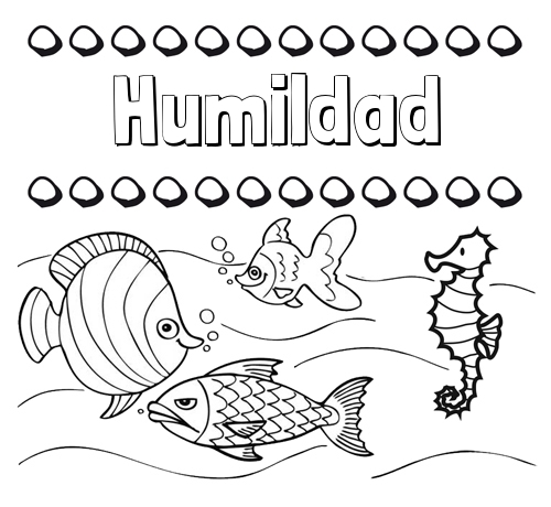 Dibujos Con El Nombre Humildad Para Colorear E Imprimir