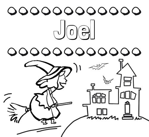 Dibujos con el nombre Joel para colorear e imprimir